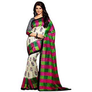 1d1d2a4412 Buy Vipul Multicolor Art Silk Printed Saree With Blouse Online - Get 55% Off