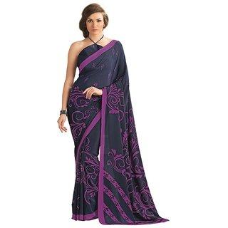 Vipul Womens Crape Saree (Multicolor)