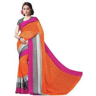 Vipul Womens Georgette Lace bordered Saree (Multicolor)