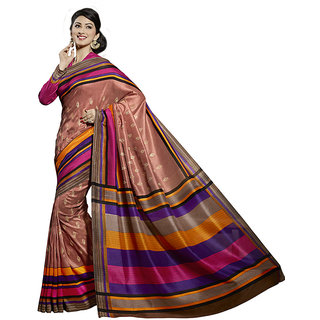 Vipul Multicolor Art Silk Embroidered Saree With Blouse