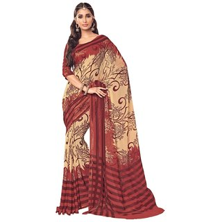 Vipul Womens Georgette saree (Multicolor)