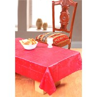 Surhome Red Thin Plastic Table Cover 135x85 cm
