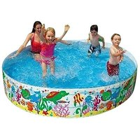 Intex 8 Feet Swimming Pool For Kids(Multicolor)