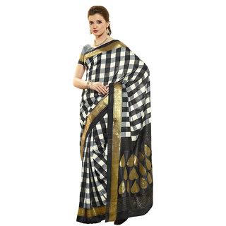 Vipul Womens Bhagalpuri silk Foil work Saree (Multicolor)
