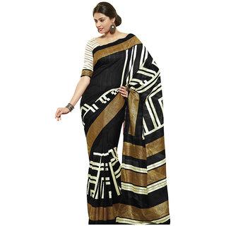 Vipul Womens Bhagalpuri silk Foil work Saree (Multicolor)