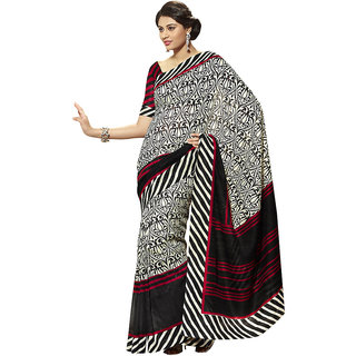 Vipul Multicolor Art Silk Printed Saree With Blouse