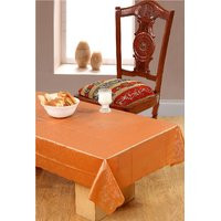 Surhome Orange Thin Plastic Table Cover 135x85 cm