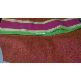 Platinum Sarees Multicolor Silk Geometric Saree With Blouse