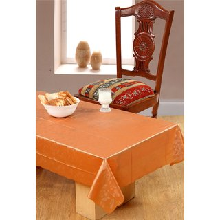 Surhome Orange Thin Plastic Table Cover 135x85 cm
