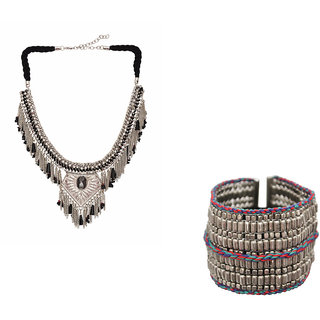 GYPSY HOOP Necklace and Bracelet set for Women