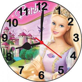 ske 3D princess barbie wall clock