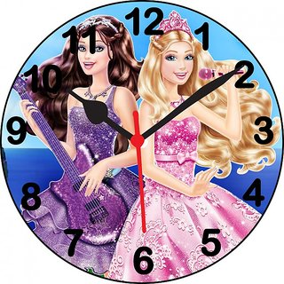 ske 3D barbie singing wall clock