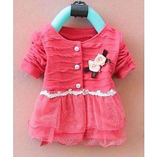 Kids Girls Party Dress- Peach Giirl-12-24 months Age Grp size