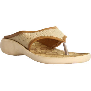 Hansx Beige Women Slippers