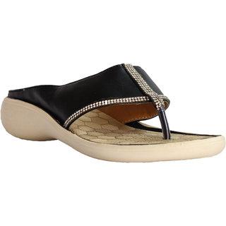 Hansx Black Gold Women Slippers