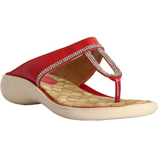 Hansx Red GoldWomen Slippers