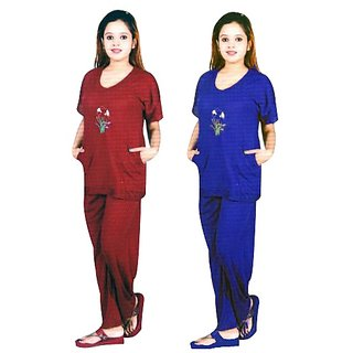 Hot women Cotton night wear night suit , Night Dress ,nighty,Top and Pajama for Girls