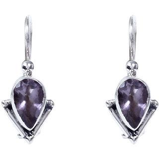 Silverwala Amethyst Stone 925 Sterling Silver  Drop Earring