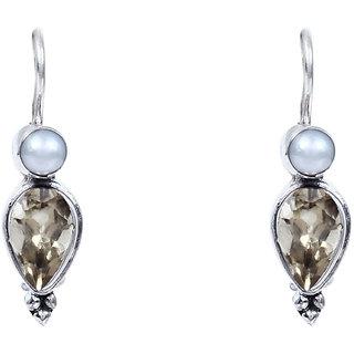 Silverwala Garnet Stone 925 Sterling Silver  Drop Earring