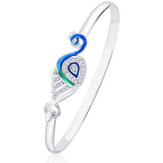 Taraash 925 Sterling Silver Peacock Style Bangle for women BG1458S BG1458S