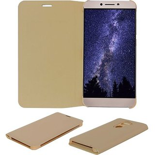 Lenovo K5+Pllus  Synthetic Leather Flilp Cover Gold Premium Quality
