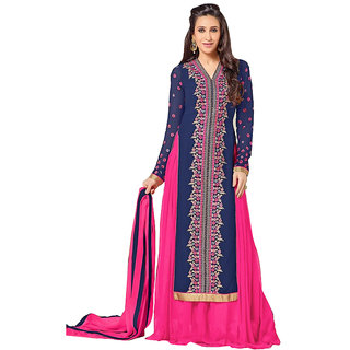 Bollywood Karishma Kapoor Long Embroidred Straight Suit