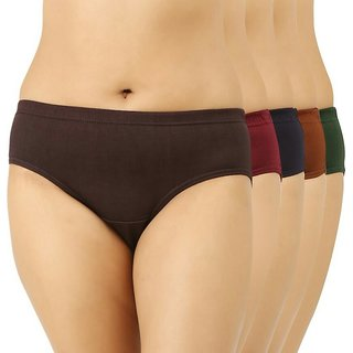 Bm fashion color full pack of five women panties ( color may very )