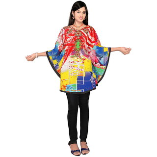 High Street Fashion Style WomenS Digital Printed kaftan