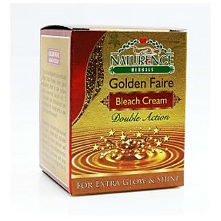 Naturence Golden Faire Bleach Cream Double Action For Extra Glow And Shine(pack of 4 pcs.)