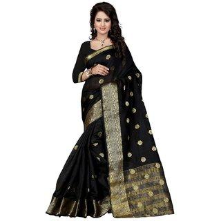 Cotton Black Color Saree For Women