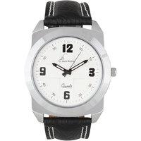 Jack Klein Round Dial Black Strap Elegant Analog Wrist Watch For Men