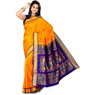 Ishan Self Design Bollywood Art Silk Sari