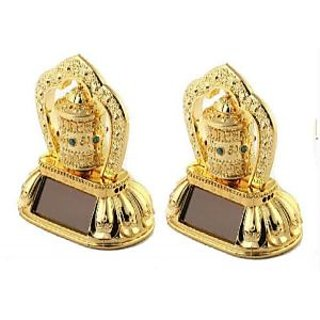 SNR Set Of 2 Solar Prayer Wheel Ornaments For Car