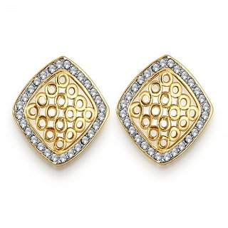 Spargz Transcend Design Earring Studded with CZ Stone AIER 537