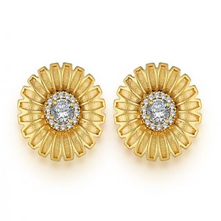 Spargz Floral Design Earring Studded with CZ Stone AIER 538