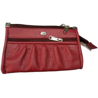 Faux Leather Maroon Womens wallet