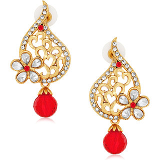 Spargz Traditional Floral Drop Earring With AD Stone AIER 552