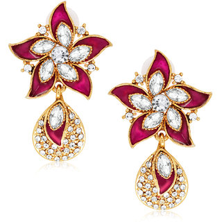 Spargz Traditional Floral Drop Earring With Gold Finish AIER 554