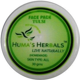 Humas Herbals Home Made Natural Face Pack - Tulsi (30 gms)