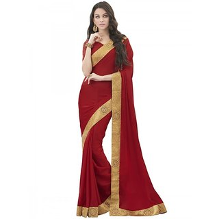 Red Colour Party Wear Saree