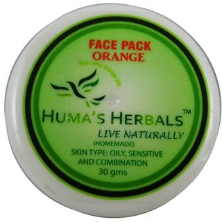Humas Herbals Home Made Natural Face Pack - Orange (30 gms)