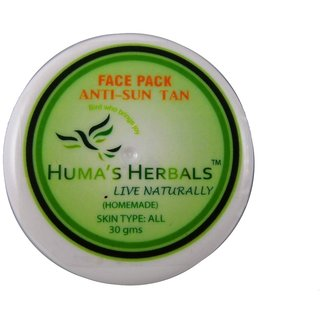 Humas Herbals Home Made Natural Face Pack - Anti-Sun Tan (30 gms)