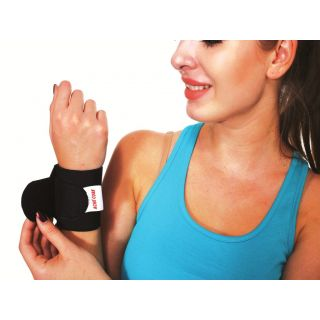 Ache Cure Wrist Brace Double Lock Hand Support (Free Size, Black)