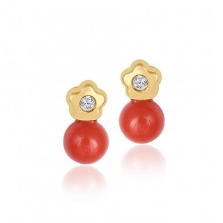 Mummys Coralmuah Gold Earrings