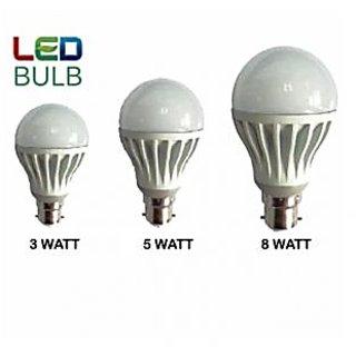 BRIO LED BULB 3W 5W 8W Combo (Set Of 3)