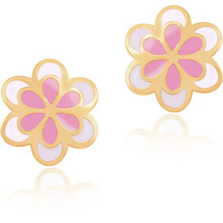 Flowering Out Gold Earrings