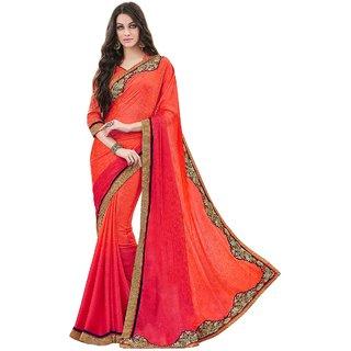Orange Colour Party Wear saree