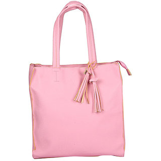 ed17125b39 Fiza Pink Color WomenS Leather Handbags