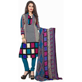 Lovely Look Multi Printed Un-Stitched Chudidar Suit LLKKFKPNDV33012