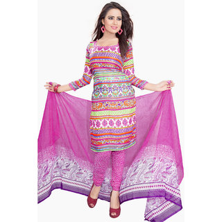 Lovely Look Multi Printed Un-Stitched Chudidar Suit LLKKFKPPLK10008